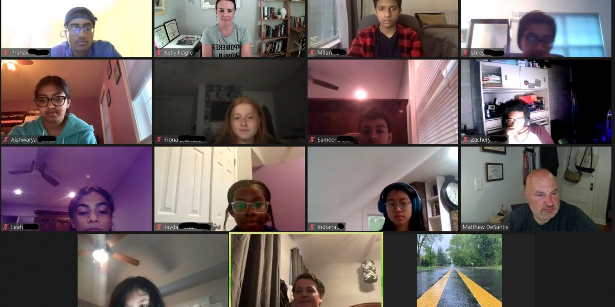 Fifteen people on zoom meeting